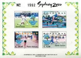 Lote H16, Honduras, 2000, HF, SS, Juegos Olimpicos, Sidney, Olympic Games, Soccer - Honduras