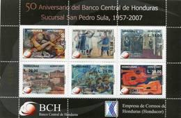 Lote H17, Honduras, 2007, HF, SS, 50 Aniversario Del Banco Central De Honduras, Bank, Art, Guitar - Honduras