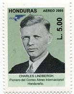 Lote H18, Honduras, 2005, Sello, Stamp, 3 V, Correo, Lindbergh, Wagon, Postal History, Car - Honduras