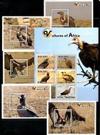 MALAWI, 2018, BIRDS- VULTURES, 5M/S+S/S. MNH**,NEW!! - Oiseaux
