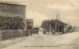 020119 - 34 LIGNAN Avenue De Béziers - Départ Du Courrier - Poste Diligence Vélo - France
