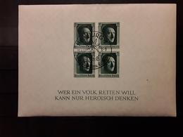 Deutsches Reich / Allemagne 1937,Bloc Feuillet Hitler N° 9 NON DENTELE, Obl Sammlerschau Hamburg, 20.4.37, TB - Allemagne