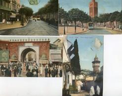 Tunisie - Tunis - Lot De 4 Cartes - Jules Ferry, Porte De France, Bab Menara , Hopital Sadiki - Túnez