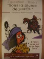 Affiche DERIB Exposition Thiers 2012 (Yakari Buddy Longway..) - Affiches & Offsets