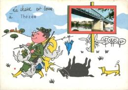 41 THEZEE La Chasse Est Bonne à  THEZEE CPSM GF (photo Miniature Pont Sur Le Cher) - France