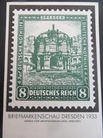 Postkarte Briefmarkenschau Dresden 1933 - Gelaufen - Deutschland