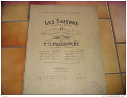 LES SAISONS 12 TABLEAUX CARACTERISTIQUES DU NORD POUR PIANO P.TSCHAIKOWSKY OP.37 - Non Classés