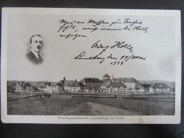 Postkarte Hitler Festung Landsberg 1924 - Hitlerputsch 1923 - Eckknick - Deutschland