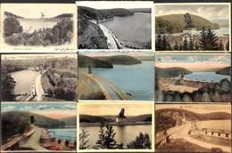 La Gileppe - Barrage - Lot 45 Cartes PK's (animée Colorisée Précurseur...petit Prix) - Gileppe (Barrage)