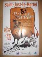 Affiche BOLIGAN Festival International De La Caricature Saint-Just Le Martel 2018 - Affiches & Offsets