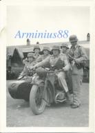 Luftwaffe - 7. Luftlandung Division - Kreta, 1941 - Tenue Tropicale - Motorradgespann Zundapp KS750 Mit Beiwagen - Guerre, Militaire