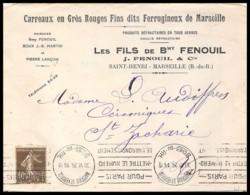 8245 Lettre En Tete Fenouil Ferrugineux Bouches Du Rhone 193 Semeuse 1926 Marseille Saint Ferréol Krag Pour Paris Mettre - 1921-1960: Période Moderne