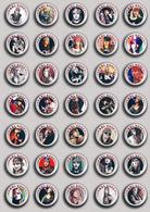 45 X Guns N' Roses BAND - Axl Rose Music Fan ART BADGE BUTTON PIN SET 3 (1inch/25mm Diameter) - Music