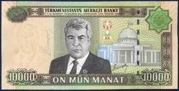 TURKMENISTAN 10000 MANAT P-16 President Saparmurat Niyazov Turkmenbashi's Palace, Aşğabat Independence Monument 2005 UNC - Turkménistan