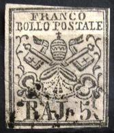 ITALIE Etats Pontificaux                      N° 6                     OBLITERE - Estados Pontificados