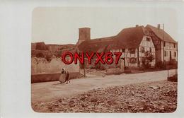 Carte Postale Photo Militaire Allemand REININGUE Bei Kingersheim (Haut-Rhin) Village Eglise-Guerre 1914-1918-Krieg - Otros Municipios