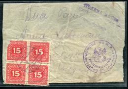 AUTRICHE - TAXE N° 51 (4) / LETTRE DE MILITAIRE  - TB - Strafport