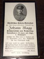 Sterbebild Wk1 Bidprentje Avis Décès Deathcard IR26 12. November 1916 Aus Tacherting - 1914-18