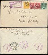S7359 - USA R - Briefumschlag : Gebraucht Boston - Berlin 1921, Bedarfserhaltung. - Etats-Unis