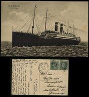 S5975 - USA Schiffspost Postkarte , S.S. America: Gebraucht Sea Post - Essen Ruhr 1923 , Bedarfserhaltung. - Etats-Unis
