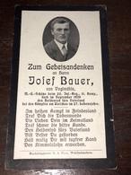Sterbebild Wk2 Ww2 Bidprentje Avis Décès Deathcard IR20 MG WARSCHAU September 1939 Polen Aus Voglmühle - 1914-18
