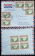 07524 Süd Rhodesien LUPO Brief 9 X Victoria Falls 2d - Stamps