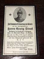 Sterbebild Wk1 Ww1 Bidprentje Avis Décès Deathcard RIR6 Gasangriff Aus Katzbach 14. Mai 1916 - 1914-18