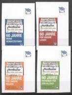 Privatpost Nordkurier 2012 4 Werte 60 Jahre Nordkurier Ungezähnt ** Postfrisch - BRD