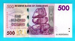 ZIMBABWE - 500 Dollars 2008 (2007) - FDS UNC - Zimbabwe