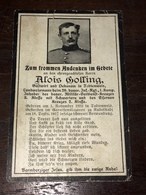 Sterbebild Wk1 Ww1 Bidprentje Avis Décès Deathcard IR26 RUDOLSTADT Aus Todtenweis - 1914-18