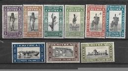 E155-ERITREA - KAT. MICHEL NUMMER- 153-161 -* - Eritrea