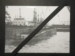 """Le Havre - Photo Originale - Renflouement Port Du Havre - Barge """" Corse """" B.E - Bateaux"""
