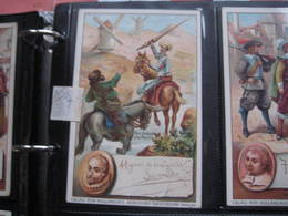 8 Cards,  14cm X 9cm  Advertising  C1890  CACAO COCOA BENSDORP Chocolate, Famous WRITERS, Literature VG - Chocolate