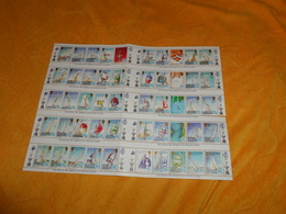 PLANCHE DE 50 TIMBRES SOLOMON ISLANDS THE OFFICIAL 1987 AMERICA'S CUP POSTAGE STAMPS NEUF - Salomon (Iles 1978-...)