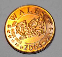 Wales - Pays De Galles 2004 BU EURO PATTERN EURO ESSAI 5 Cents - 5 Euro Cent - EURO