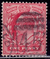 Great Britain, 1902-11, King Edward VII, 1p, Sc#128, Used - 1902-1951 (Kings)