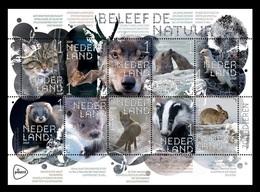 Netherlands 2019 Mih. 3783/92 Fauna. Experience Nature. Mammals. Cat. Bat. Wolf. Seal. Otter. Rabbit. Fox. Badger MNH ** - Period 2013-... (Willem-Alexander)