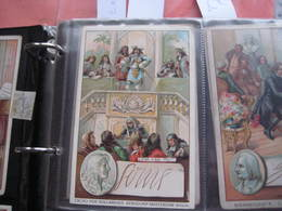 7 Cards,  14cm X 9cm  Advertising  C1890  CACAO COCOA BENSDORP Chocolate, Famous WRITERS, Literature VG - Chocolate