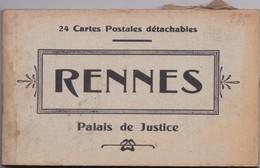 35 RENNES - Palais De Justice - Carnet Album De 24 Cartes Postales Détachables - Rennes