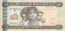 ERITREA 5 NAKFA 2015 P-14 UNC */* - Erythrée
