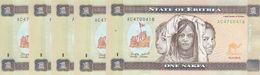 ERITREA 1 NAKFA 2015 P-13 Lot X5 UNC Notes */* - Eritrea