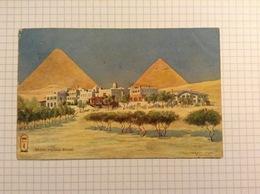 #postkaart, Piramiden Mena House Hotel Verzonden In Texas, Gelopen 1906, Met Zegel 1 Cent USA 1903 - Pyramids