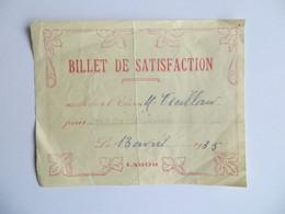 Vieux Papier Scolarité : Bulletin De Satisfaction ( Ancêtre Du Bon Point...) 1935 Labor - Diplômes & Bulletins Scolaires