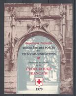 VARIETE : CARNET CROIX ROUGE 1970 NEUF ** N°2019a (LÉGENDE 27mm AU LIEU DE 32) - Red Cross