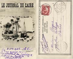 Egypt, CAIRO, Le Journal Du Caire, Nile View (1906) Newspaper Postcard - Cairo