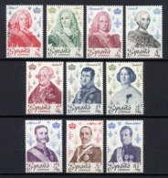 ESPAGNE - 2139/2148** - ROIS ET REINES D'ESPAGNE - 1931-Aujourd'hui: II. République - ....Juan Carlos I