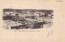 DJIBOUTI  CPA. TERRASSES DU QUARTIER ARABE - Somalie