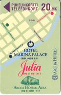 FINLAND - Arctia Hotels/Marina Palace, Turun Puhelin Telecard, Tirage 1500, Exp.date 12/96, Used - Finlande