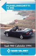 FINLAND - SAAB 900, Turun Puhelin Telecard, Tirage 5000, Exp.date 12/96, Used - Finlande