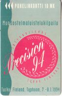 FINLAND - Precision 94 I, Turun Puhelin Telecard, Tirage 13500, Exp.date 12/95, Used - Finlande